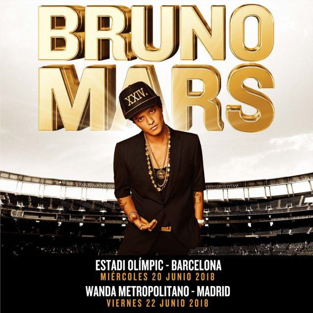 Bruno Mars actuará en España en 2018